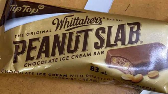 """""""Tip Top is excited to partner with Whittaker's to bring the iconic Peanut Slab to life as an ice cream,"""" Tip Top said. (Photo / Reddit)"""