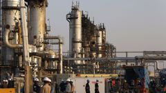 Aramco's oil processing facility in Saudi Arabia. (Photo / AP)