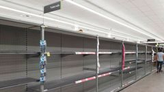 Supermarket shelves have been stripped bare of toilet paper. (Photo / File)