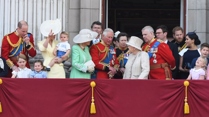 The British royal family at last year's Trooping the Colour. (Photo / Getty)