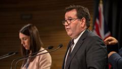Prime Minister Jacinda Ardern and Finance Minister Grant Robertson answering questions on the Government's economic response to coronavirus. (Photo / File)