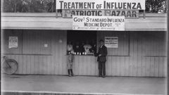 """An influenza medicine depot in Christchurch for """"poor"""" people during the 1918 pandemic. (Photo / Supplied)"""
