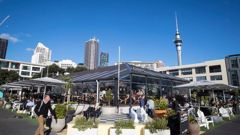 The pilot attempted to go to Headquarters bar in Auckland's Viaduct. (Photo / NZ Herald)