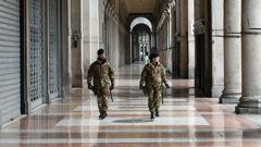 Military patrols an army in Milan, Italy. (Photo / AP)