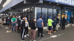 The queue got longer after the doors opened. Photo / Supplied