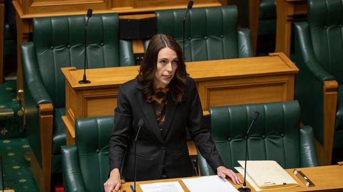 Prime Minister Jacinda Ardern speaking in Parliament today.