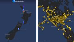Covid 19 coronavirus: Flight tracker shows impact of NZ's travel restrictions compared to US