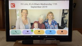 Matamata woman invents simple tablet to keep elderly connected
