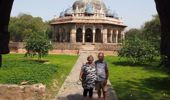 Marian and Don Stuart from Waihi Beach are stranded in New Delhi, India. (Photo / Supplied)