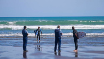 Police issue tickets to surfers, swimmers after new lockdown notice