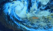 Latest satellite image of Tropical Cyclone Harold above Vanuatu. The system is swirling over Solomon Islands.