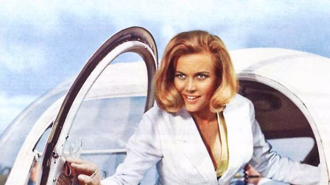 Honor Blackman as Pussy Galore in the film Goldfinger. Photo / AP