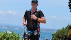 Matt Oliver competing in the Enduro race at the Mount Festival of Multisport in Tauranga in January.