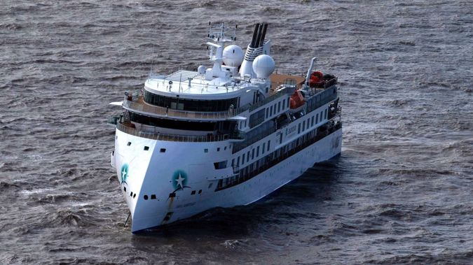 The Greg Mortimer, a cruise liner operated by Australia's Aurora Expeditions, departed March 15 on a voyage to Antarctica and South Georgia. (Photo / Getty)