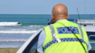 Police guard beaches as surfers continue to defy lockdown rules