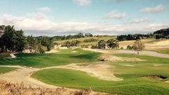 Golf courses are not allowed to have a single maintenance worker tending to the course during the lockdown. Above, the Wainui golf course. Photo / Wynne Gray