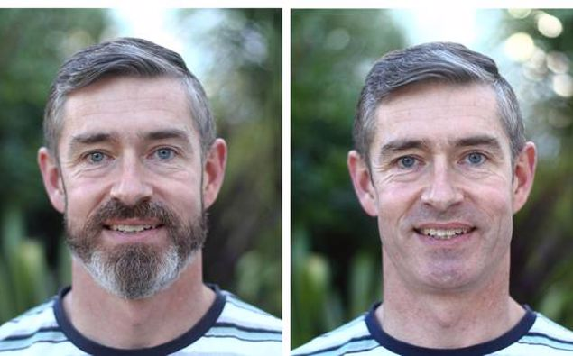 Police Commissioner Andrew Coster has shaved his beard in solidarity with those at the frontline of Covid-19. Photo / NZ Police