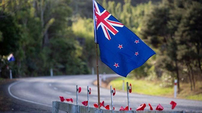 Fence decorations in the Waitakere Ranges, on Anzac Day. (Photo / Sylvie Whinray)