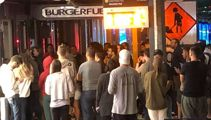 Burger frenzy: Burger Fuel brings in crowd controllers