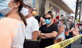People line up to apply for unemployment benefits in Hialeah, Florida. (Photo / Shutterstock via CNN)