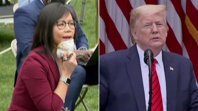President Donald Trump abruptly ended his press conference after a contentious exchange with Weijia Jiang. (Photo / CNN)
