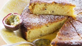 Nici Wickes: Passionfruit curd loaf cake