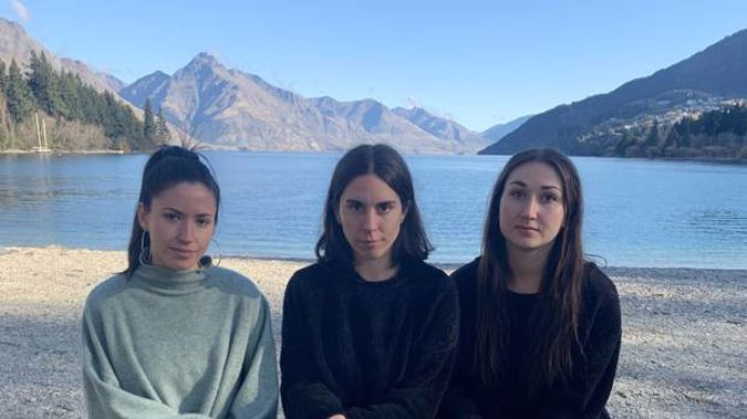 Staff from the Good Group's Queenstown restaurants and bars Magalí Gómez Espina, Camila Rouco Oliva and Mackenzie Mercer say they are distraught at being let go. Photo / Supplied