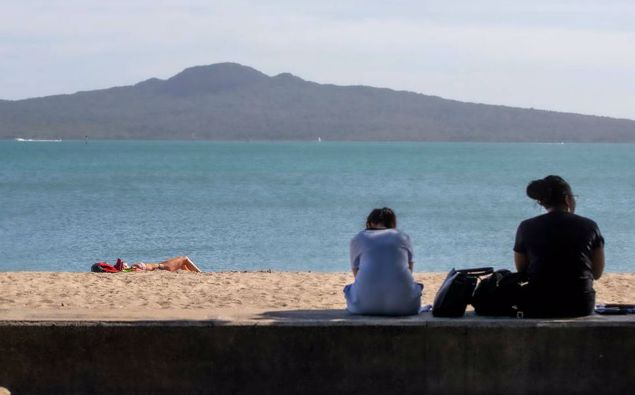 People out and about during alert level 2. (Photo / NZ Herald)