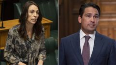 The poll was a positive for Jacidna Ardern, left, but shows Simon Bridges' job may be in trouble.