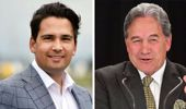 National leader Simon Bridges (left) and New Zealand First leader Winston Peters. (Photo / File)