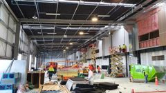 Manukau Institute of Technology's new $55 million trade training centre, now under construction, will open just as demand for trades training is expected to boom. (Photo / Supplied)