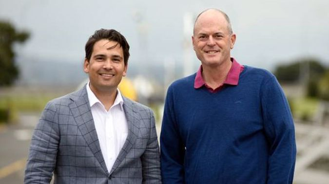 Simon Bridges with Todd Muller. (Photo / NZ Herald()