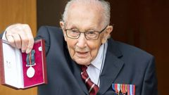 Tom Moore was promoted to Colonel for his 100th birthday. (Photo / UK Ministry of Defence)