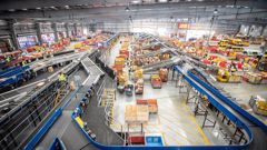 NZ Post's East Tamaki distribution centre. CourierPost is working through a huge backlog of parcels following the lockdown and subsequent move to online sales for many companies. Photo / Michael Craig