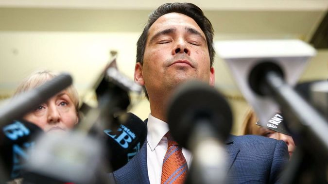 Simon Bridges' leadership is up in the air. (Photo / NZ Herald)