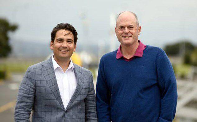 Simon Bridges and Todd Muller. (Photo / NZ Herald)