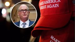 Todd Muller has a MAGA hat in his office. (Photo / Getty)