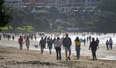 People are finding themselves amongst crowds for the first time in months. (Photo / NZ Herald)