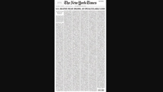 New York Times frontpage highlights America's grim Covid milestone