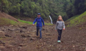 Photos: Auckland family walk along bottom of Upper Nihotupu Dam