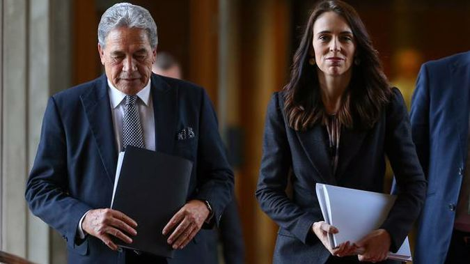 Jacinda Ardern and Winston Peters are pushing for a transtasman travel bubble as soon as one can be safely put in place. (Photo / Pool)