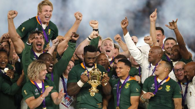 While the Rugby World Cup's most recent instalment was just last year, there's a proposal for an unofficial World Cup next year. (Photo / File)Photo / File)