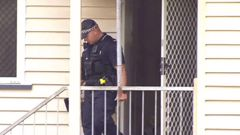 Two teenagers are in hospital after being found naked and malnourished in a locked room in a house in Brisbane where a dead body was also discovered.  (Photo / Supplied)