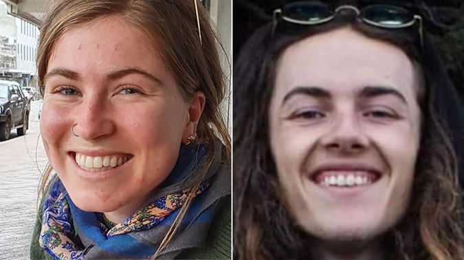 Trampers Jessica O'Connor and Dion Reynolds were missing for 18 days. (Photo / Supplied)