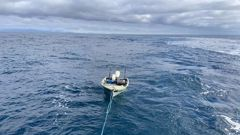 A young man has had a lucky escape after becoming stuck off the Mana Coast following an overnight trip across the Cook Strait in a dingy. (Photo / NZ Police)