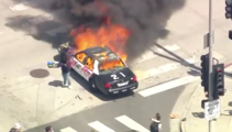 George Floyd death: Footage shows hundreds taking to the streets of Los Angeles to protest