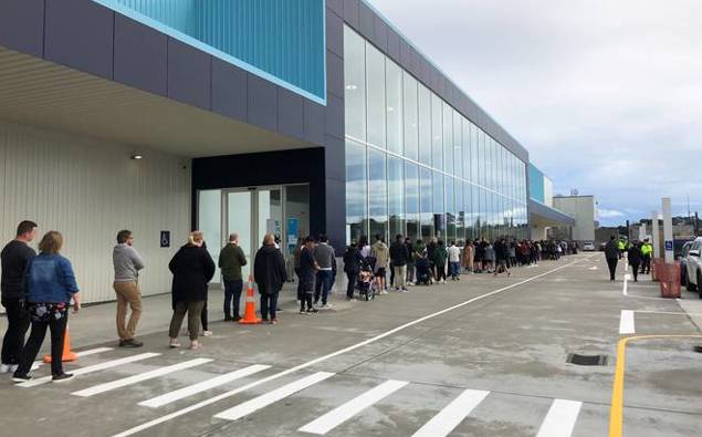 Social distancing forgotten in huge queues as Nido opens NZ's largest store