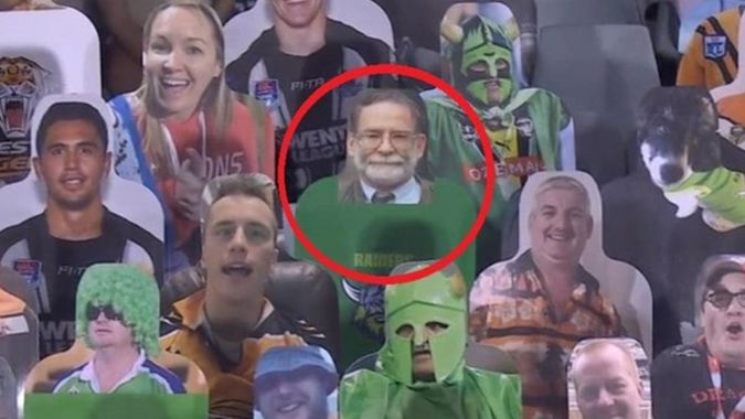 NRL 2020: Cardboard cutouts in the stands for NRL return has taken a darker turn