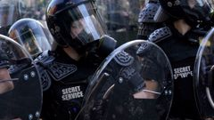 Police during protests in Washington. (Photo / Getty)