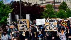 Protesters in Philadelphia. (Photo / Getty)